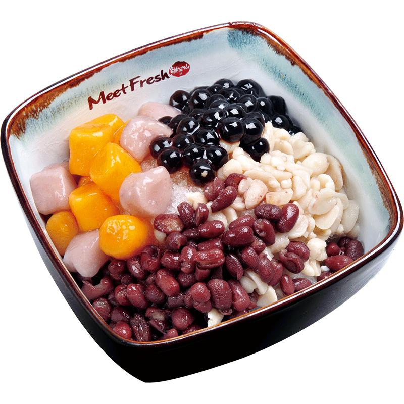 Icy Taro Ball - Combo A - Red Beans, Peanuts, Boba