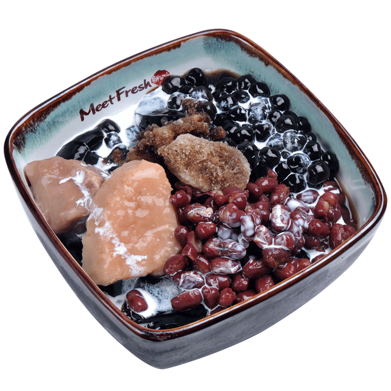 Icy Grass Jelly Combo B - Taro, Red Beans, Boba, Grass Jelly, Grass Jelly Shaved Ice