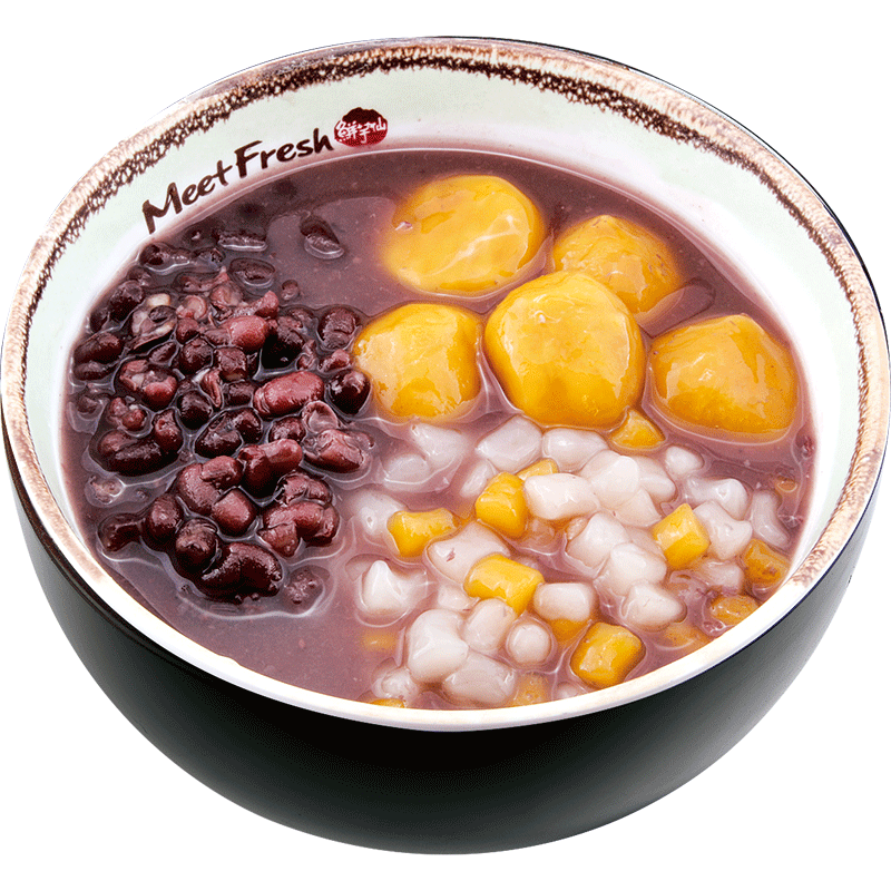 Red Bean Soup with Mini Taro Ball and Sweet Potato Taro Ball