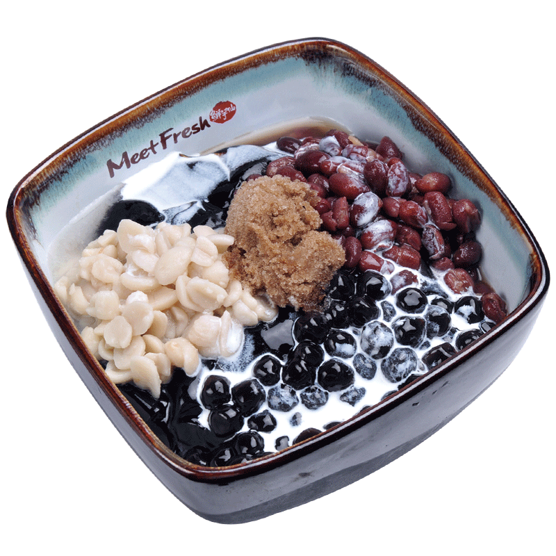 Icy Grass Jelly Combo A - Red Beans, Peanuts, Boba