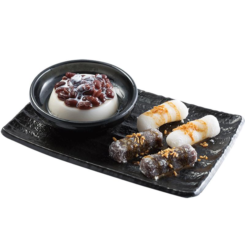 Q Mochi & Almond Pudding