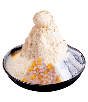 Pudding & Q Mochi Milk Shaved Ice
