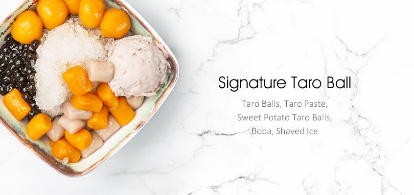 Signature taro ball