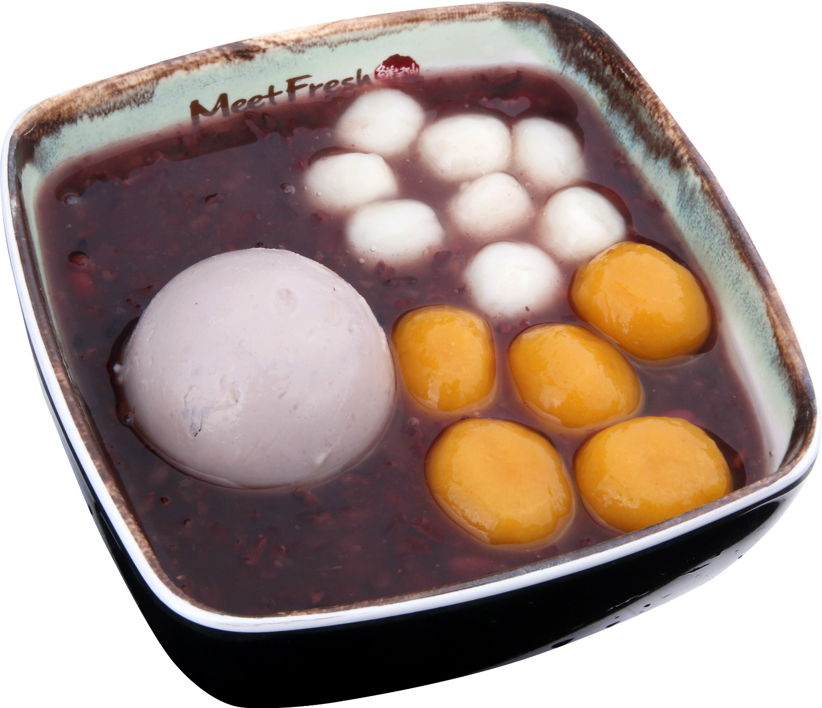 Cold Purple Rice Soup Signature - Taro Paste, Potaro Balls, Rice Balls, Purple Rice Soup
