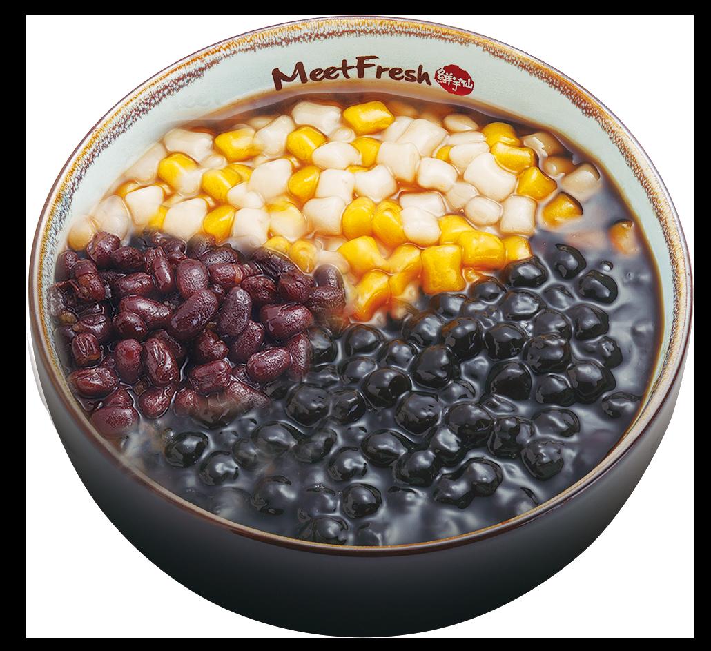 Hot Grass Jelly Signature - Mini Taro Balls, Red Beans, Boba
