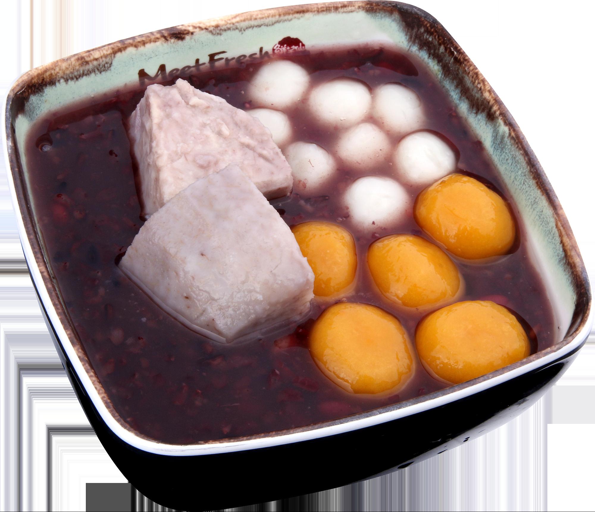 Hot Purple Rice Soup Signature - Taro, Rice Balls, Potaro Balls, Purple Rice Soup