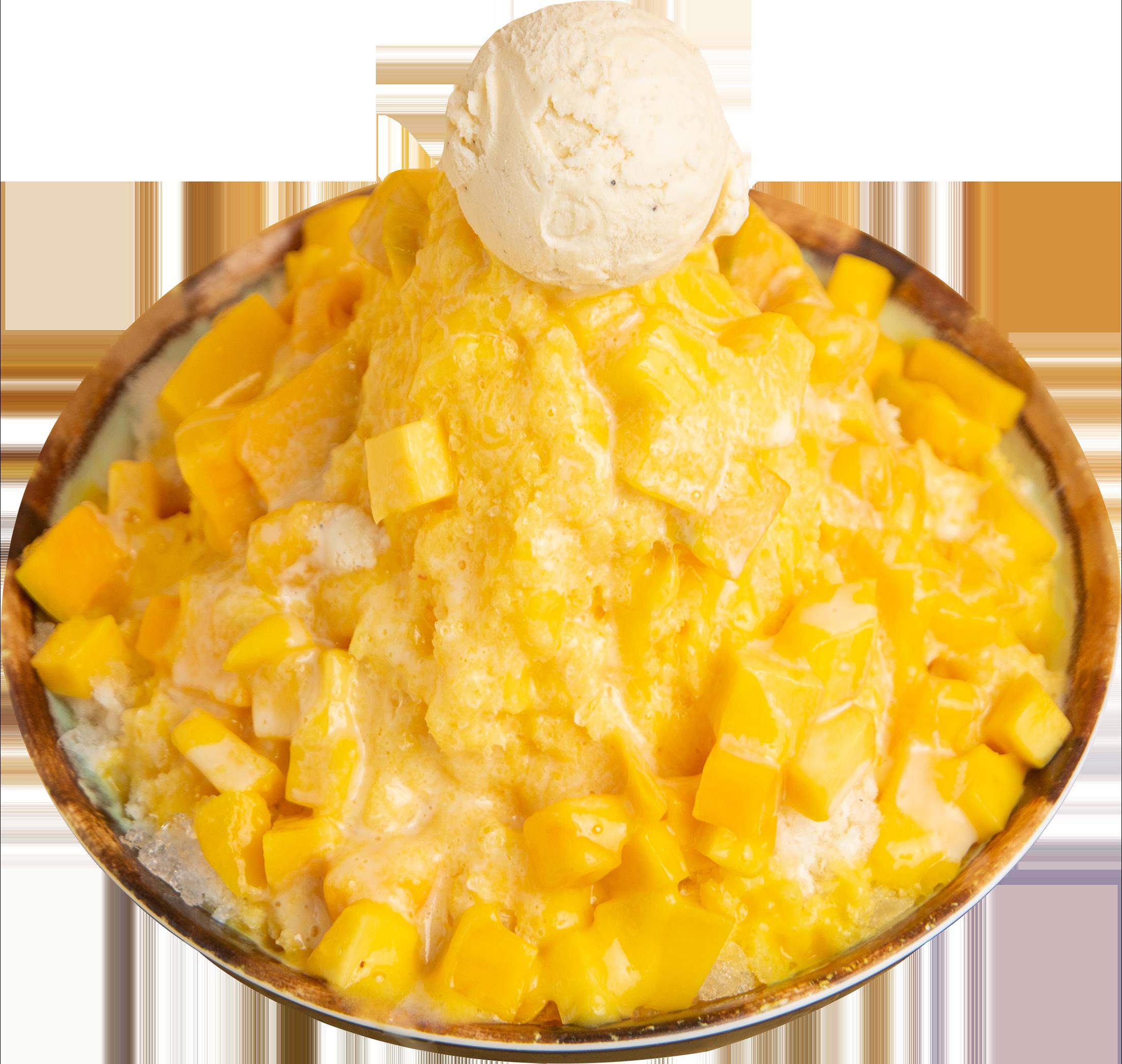 Mango Milk Shaved Ice - Mango, Ice Cream